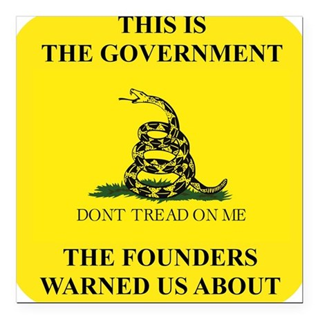"""THIS IS THE GOVERNMENT T Square Car Magnet 3"""" x 3"""""""
