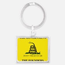 THIS IS THE GOVERNMENT THE FOUN Landscape Keychain