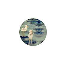 Love Snowy Plovers Love Shore Birds Mini Button