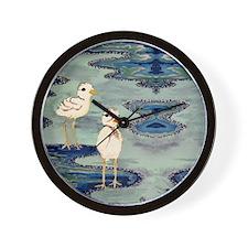 Love Snowy Plovers Love Shore Birds Wall Clock