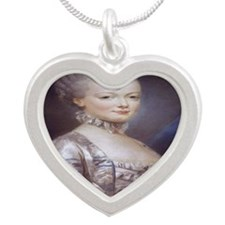 Marie Antoinette Silver Heart Necklace