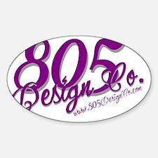 805 Design Co [4 prpl] Sticker (Oval)