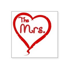 "The Mrs Square Sticker 3"" x 3"""