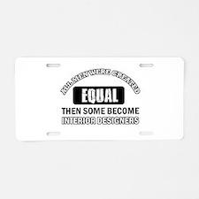 Interior Designers Aluminum License Plate