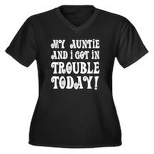 My Auntie an Women's Plus Size V-Neck Dark T-Shirt