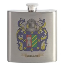Leblanc Coat of Arms - Family Crest Flask