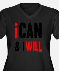I Can And I  Women's Plus Size V-Neck Dark T-Shirt