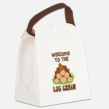 Welcome TO THE LOG CABiN Canvas Lunch Bag
