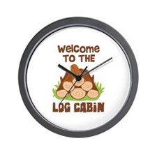 Welcome TO THE LOG CABiN Wall Clock