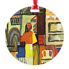 August Macke - Dealer with Jugs, Au Ornament