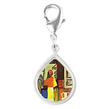 August Macke - Dealer with  Silver Teardrop Charm