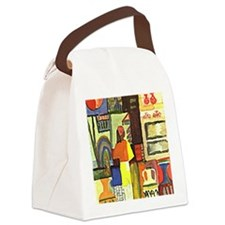 August Macke - Dealer with Jugs,  Canvas Lunch Bag