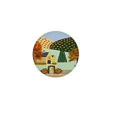 Pumpkin Hollow Mini Button
