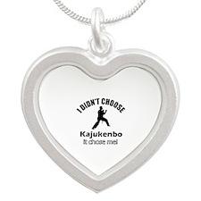 I didn't choose Kajukenbo Silver Heart Necklace