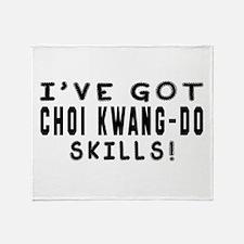 Choi Kwang Do Skills Designs Throw Blanket