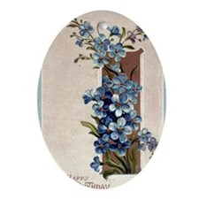 A Happy Birthday Violets B Oval Ornament