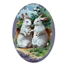 A Bright And Happy Easter Oval Ornament