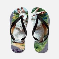 A Bright And Happy Easter Flip Flops