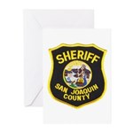 San Joaquin Sheriff Greeting Cards (Pk of 10)