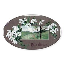 Best Wishes Violets Decal