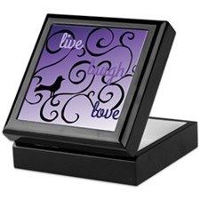 Live Laugh Lovel Bird and swirl Desig Keepsake Box