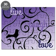 Live Laugh Lovel Bird and swirl Design Puzzle
