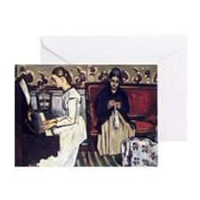 Cezanne - Girl at the Piano, Overtur Greeting Card