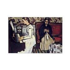 Cezanne - Girl at the Piano, Over Rectangle Magnet