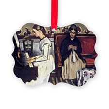 Cezanne - Girl at the Piano, Over Ornament