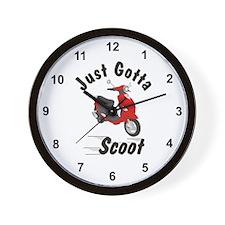 Just Gotta Scoot Red Buddy Wall Clock