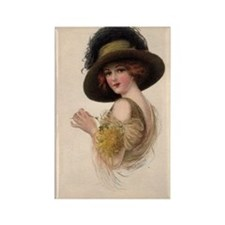 Gibson Girl Blank Card Rectangle Magnet