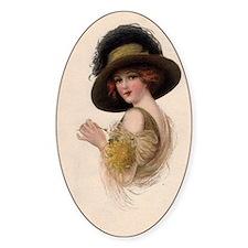 Gibson Girl Blank Card Decal
