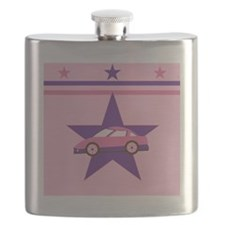Pink Racecar Design Flask