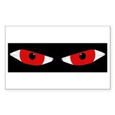 Demon Eyes Rectangle Bumper Stickers