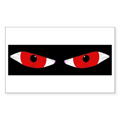 Demon Eyes Rectangle Sticker