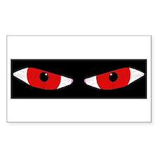 Demon Eyes Rectangle Stickers