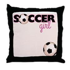 Soccer Girl Throw Pillow