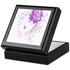 Purple Woman Keepsake Box