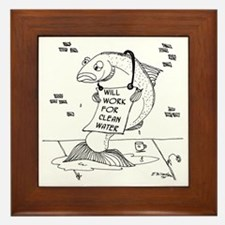 Will Work For Clean Water Framed Tile