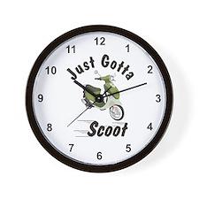Just Gotta Scoot Italia Buddy Wall Clock