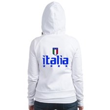 Italia 4 Star Italian Soccer Fitted Hoodie