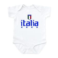 Italia 4 Star Italian Soccer Infant Bodysuit