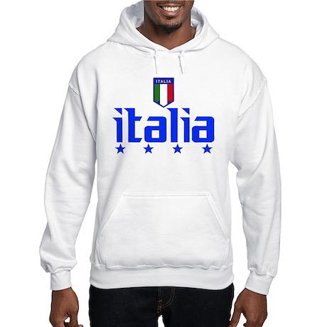 Italia 4 Star Italian Soccer Hooded Sweatshirt