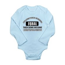 Herpetologists Designs Long Sleeve Infant Bodysuit
