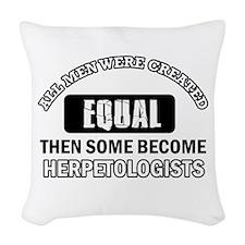 Herpetologists Designs Woven Throw Pillow