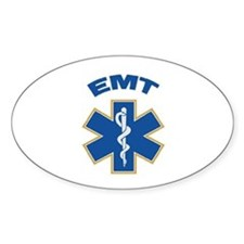 Emergency Medical Technician Oval Stickers