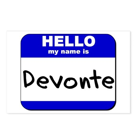hello my name is devonte Postcards (Package of 8)