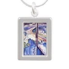 Delaunay - The Spire of  Silver Portrait Necklace