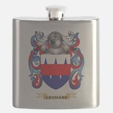 Leonard Coat of Arms - Family Crest Flask