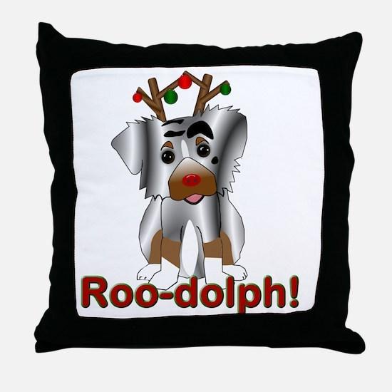 Roo-dolph! Throw Pillow
